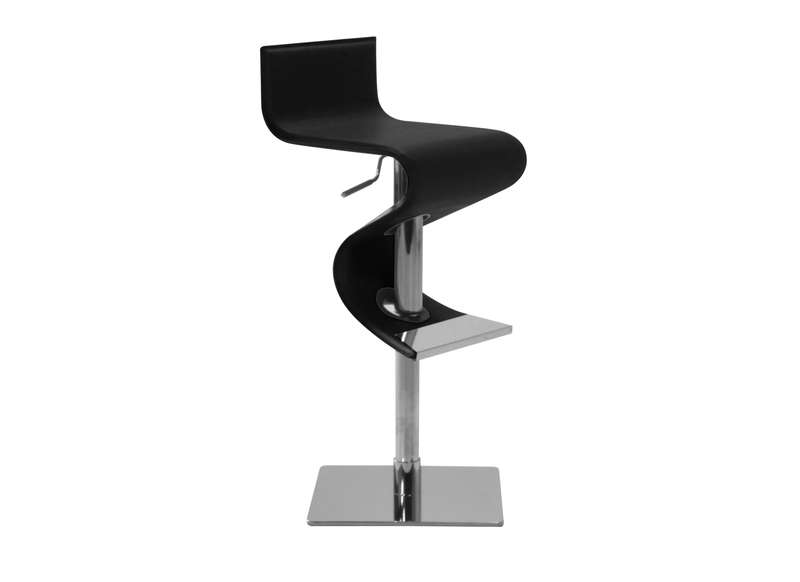 tabouret de bar en cuir design noir trendy - Tabouret Bar Design