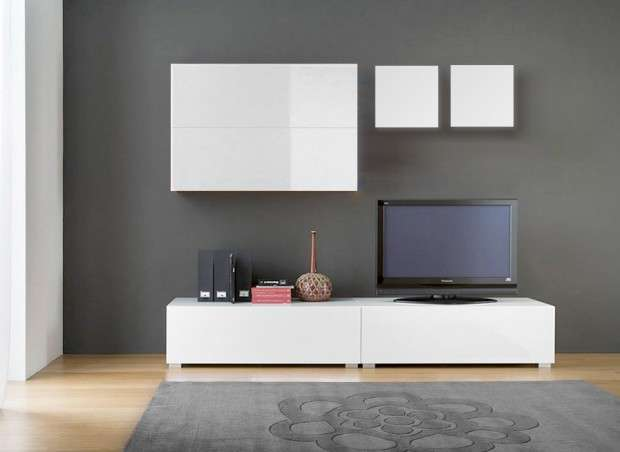 Ensemble tv mural design laqu tango achatdesign - Ensemble mural tv ikea ...