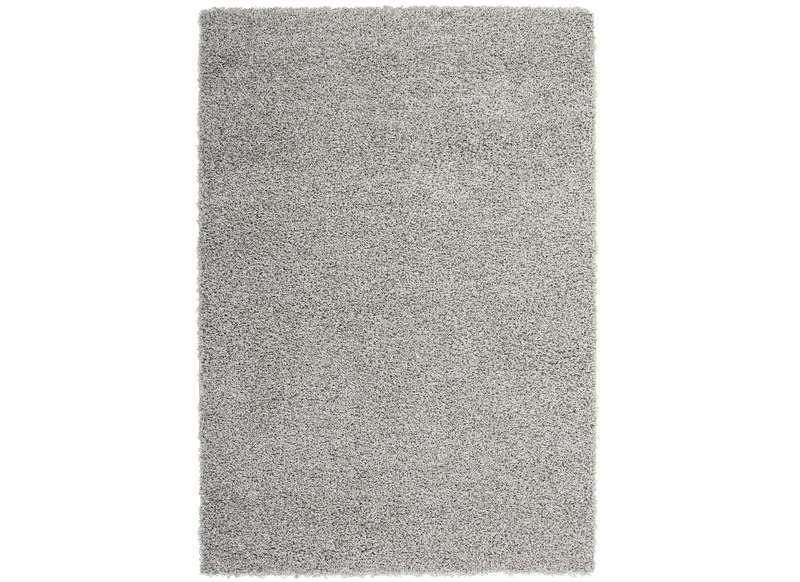 Tapis poil long en polypropyl ne achatdesign - Tapis shaggy gris clair ...
