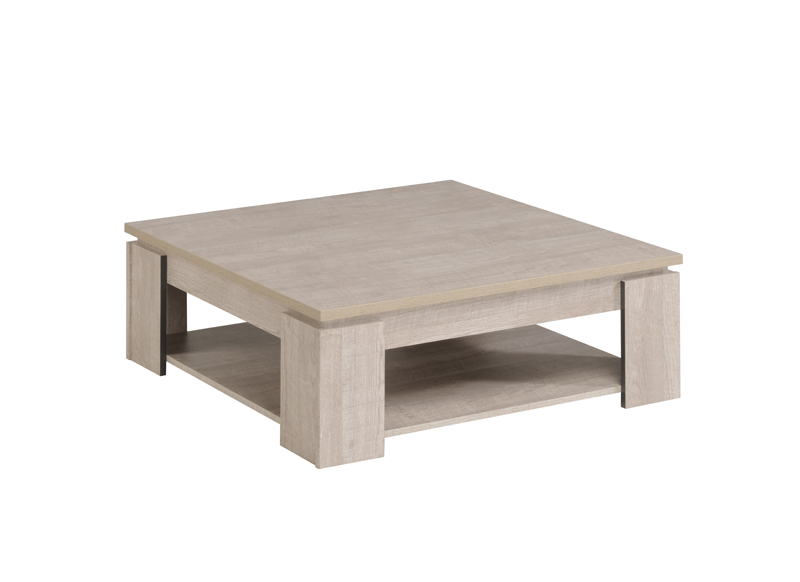 Table basse carr e bois anvers - Table bois carree ...
