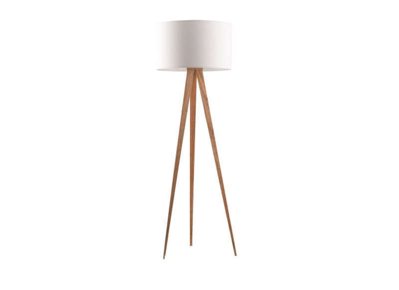 Lampadaire design pied bois achatdesign for Lampe de salon design sur pied