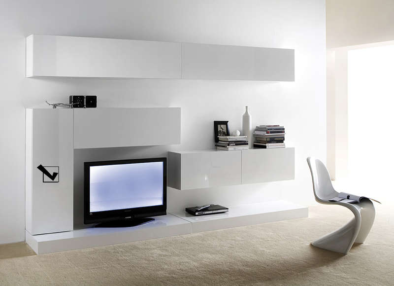 Meuble tv suspendu laqu design vertical l achatdesign for Achatdesign meuble tv