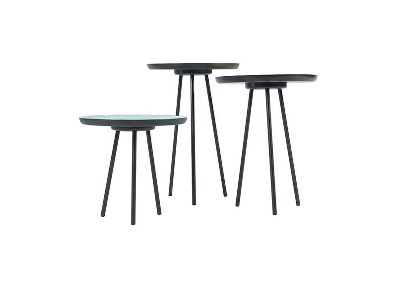Trio table basse Noir ENA
