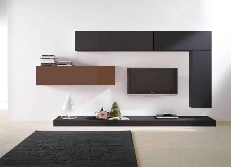 Meuble tv meuble tele marron meuble tele marron trouvez meuble tele marron - Ensemble mural tv design ...