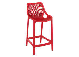 TABOURET POLYPROPYLENE Rouge AIR