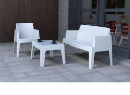 Table basse de jardin Blanc ICE