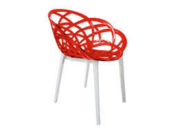 CHAISE CONTEMPORAINE Rouge FLORA