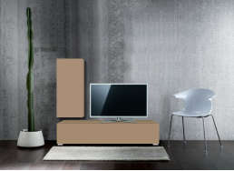 Ensemble TV design pas cher Cappuccino ATLANTIS