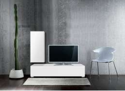 Ensemble TV design pas cher Blanc ATLANTIS