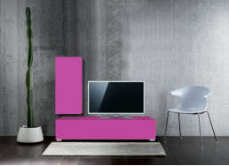 Ensemble TV design pas cher Violet ATLANTIS