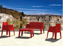 Table basse de jardin Rouge ICE