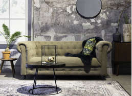 Canapé chesterfield vintage Sable CHESTER
