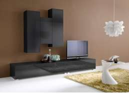 Ensemble tv mural design Noir ELEGANCE