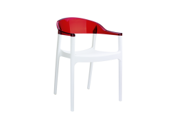 CHAISE POLYCARBONATE Rouge CARMEN