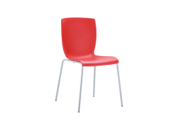 CHAISE CONTEMPORAINE Rouge MIO