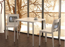 TABLE DE JARDIN Blanc MANGO