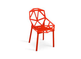 CHAISE CONTEMPORAINE Rouge TIMAN