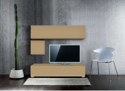 Ensemble tv pas cher design Cappuccino MADISON