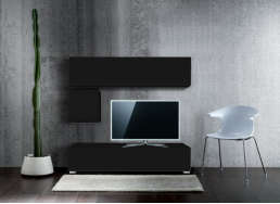 Ensemble tv pas cher design Noir MADISON