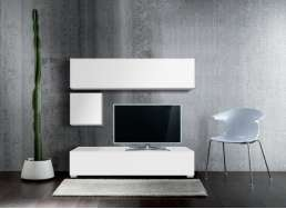 Ensemble tv pas cher design Blanc MADISON
