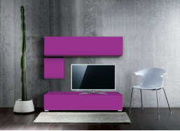 Ensemble tv pas cher design Violet MADISON
