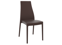 CHAISE POLYPROPYLENE Marron MIRANDA