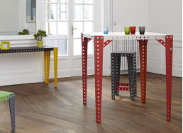 Table haute Meccano Rouge MECCANO TABLE HAUTE