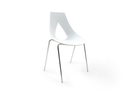 Chaise empilable design Blanc RUBANN X