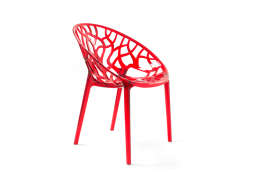 Chaise design en plastique Rouge CRYSTAL