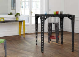 Table haute Meccano Noir MECCANO TABLE HAUTE