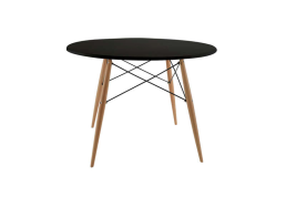 Table ronde scandinave Noir KENNEDY TABLE RONDE