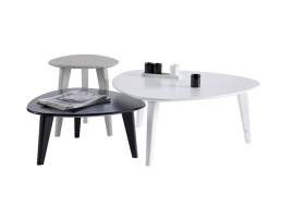 Set de 3 tables basses Blanc TONY