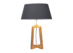 Lampe en bois Anthracite WOOLY