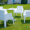 Lot chaise de jardin design Blanc ICE