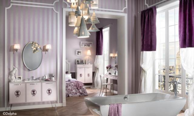 l 39 clairage d 39 une salle de bains romantique achatdesign. Black Bedroom Furniture Sets. Home Design Ideas