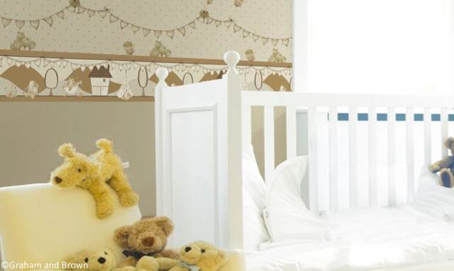 Chambre Bebe Jaune Papier Peint Graham And Brown