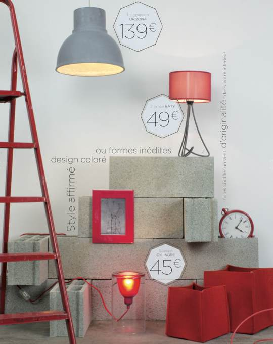 luminaires-design-colore-rouges-catalogue-laurie-lumiere
