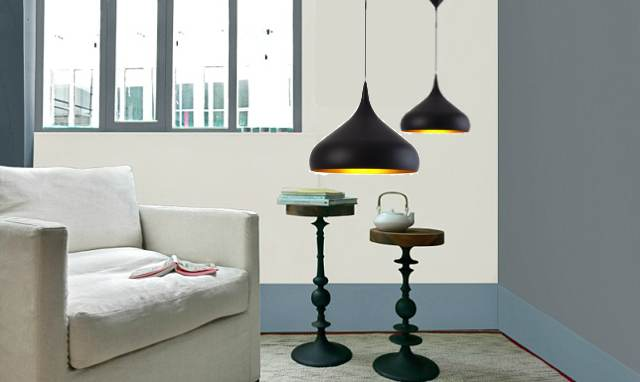 La suspension en m tal noire norma laurie lumi re achatdesign - Suspension salon design ...