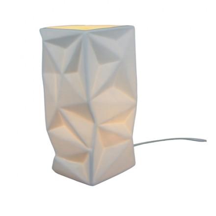 Lampe blanche origami Laurie Lumière