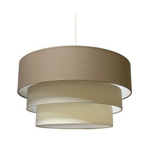 LAURIE suspension-planete-taupe-nature-creme