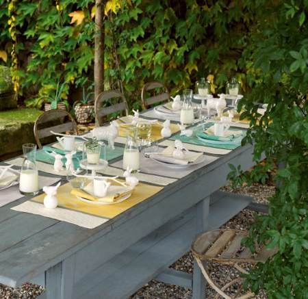 Table de jardin et set de table Monteleone