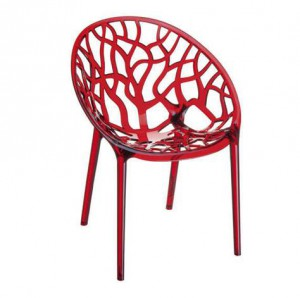 chaise polycarbonate rouge
