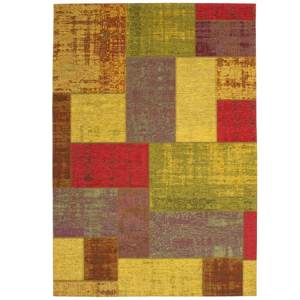 Tapis patchwork en polyester Achat design