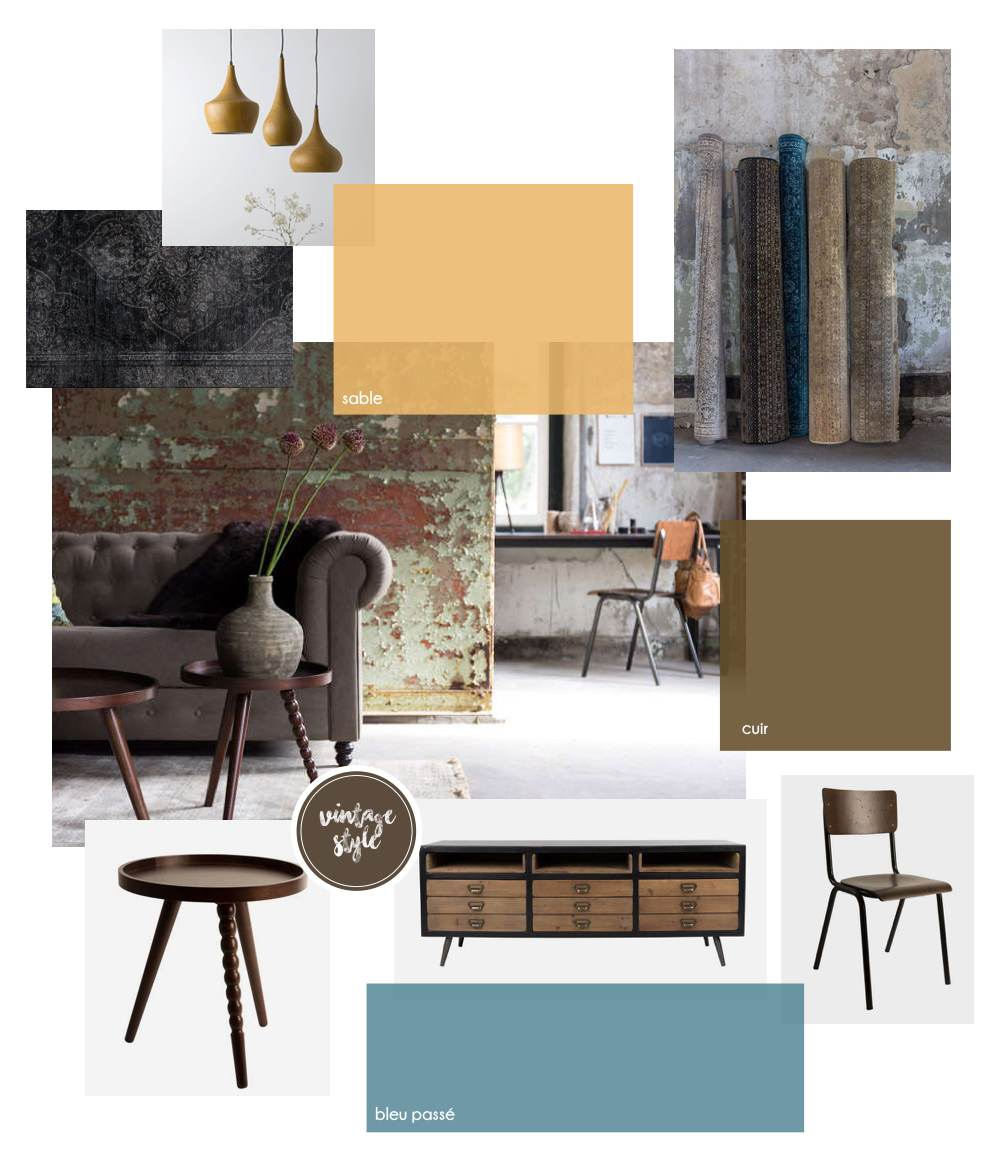 Planche tendance design vintage is in the air