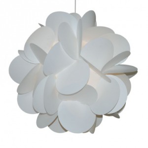 Suspension trefles blanche