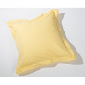 Taie d'oreiller jaune percale