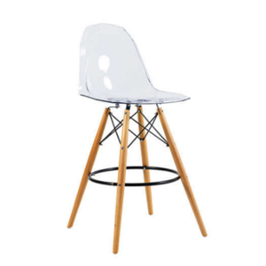 tabouret haut scandinave bois metal transparent achat design kennedy