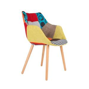 chaise patchwork multicolore