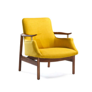 chaise retro jaune achat design fourteen