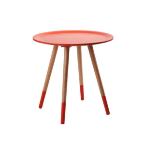 table basse vintage rouge achat design tania